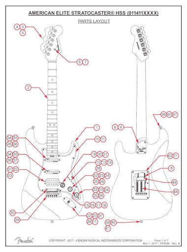 American Elite Stratocaster Hss Am, Fender Elite Stratocaster Hss Wiring Diagram