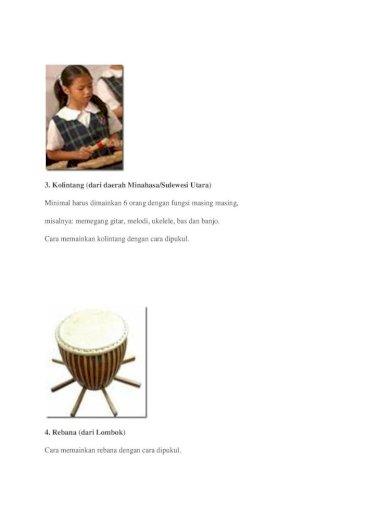 Alat Musik Di Indonesia