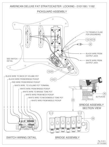 American Deluxe Fat Stratocaster, Fender American Deluxe Stratocaster Hss Wiring Diagram