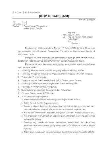 A Contoh Surat Permohonan Kop Organisasi Sinormas Tapin Com Pdf Contoh Surat Contoh Surat Permohonan Kop Organisasi Rantau Tanggal No Lampiran Perihal Permohonan