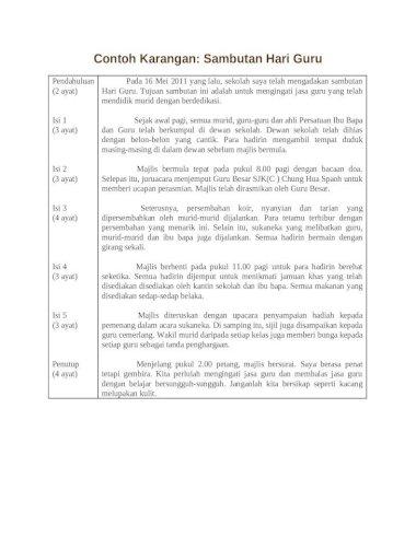 Contoh Karangan Hari Guru