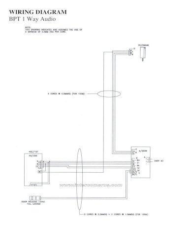 Bpt C 200 Intercom Handset Data Pdf, Intercom Wiring Diagram Pdf