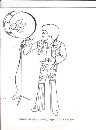 Michael Jackson Coloring Book 1985