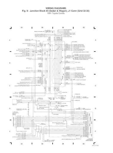 Toyota Corolla 1991 Wiring Diagram, Corolla Wiring Diagram