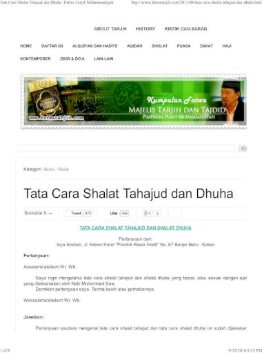 Tata Cara Wudhu Dan Shalat Muhammadiyah