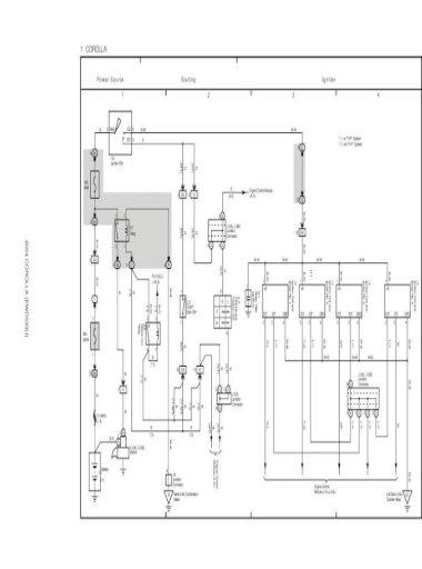 Toyota Corolla 2004 Overall Electrical, Corolla Wiring Diagram