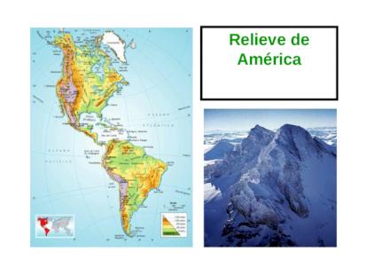 Relieve De América Continente Americano Se Divide En Tres Subcontinentes América Del Norte América Central América Del Sur Se Extiende Desde Groenlandia