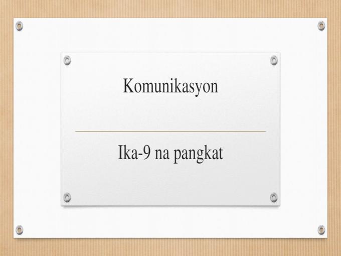 Uri Ng Komunikasyon Documents similar to ikatlong buwanang pagsusulit sa filipino 9. uri ng komunikasyon