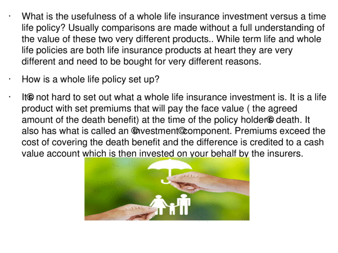 Whole life insurance investment is it worth tax saving ...