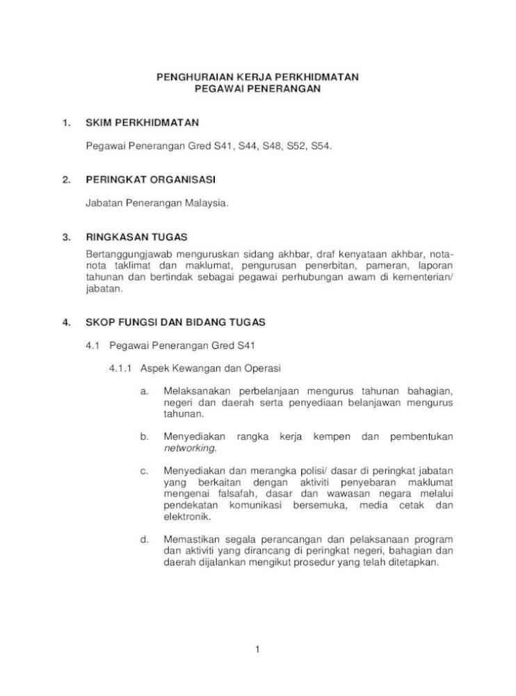 Senarai Tugas Pembantu Tadbir Perkeranian Operasi N19 Sekolah
