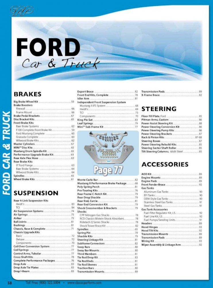 1948-56 Ford Pickup Truck Brake Hose Clips