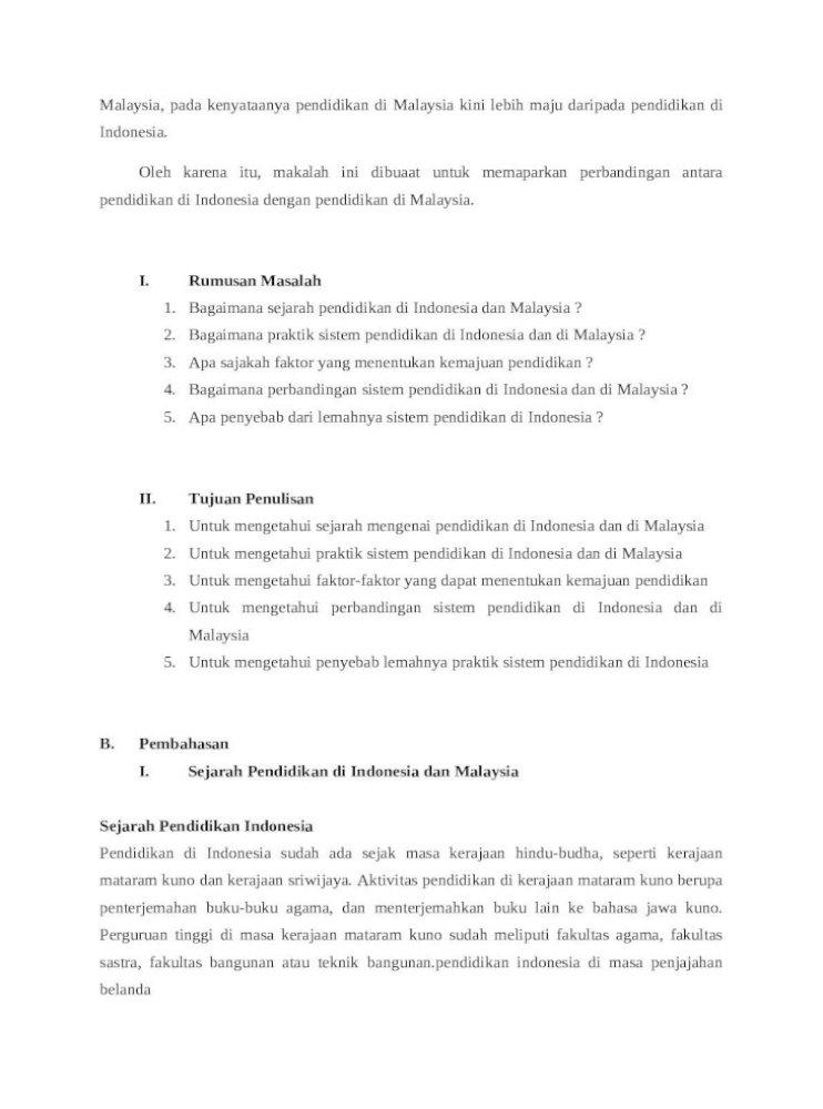 Sejarah Sistem Pendidikan Di Malaysia