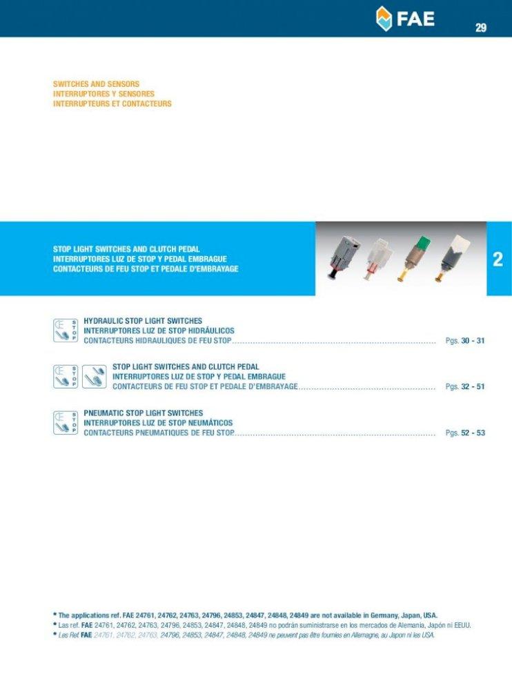 FAE 24050 Interruptores