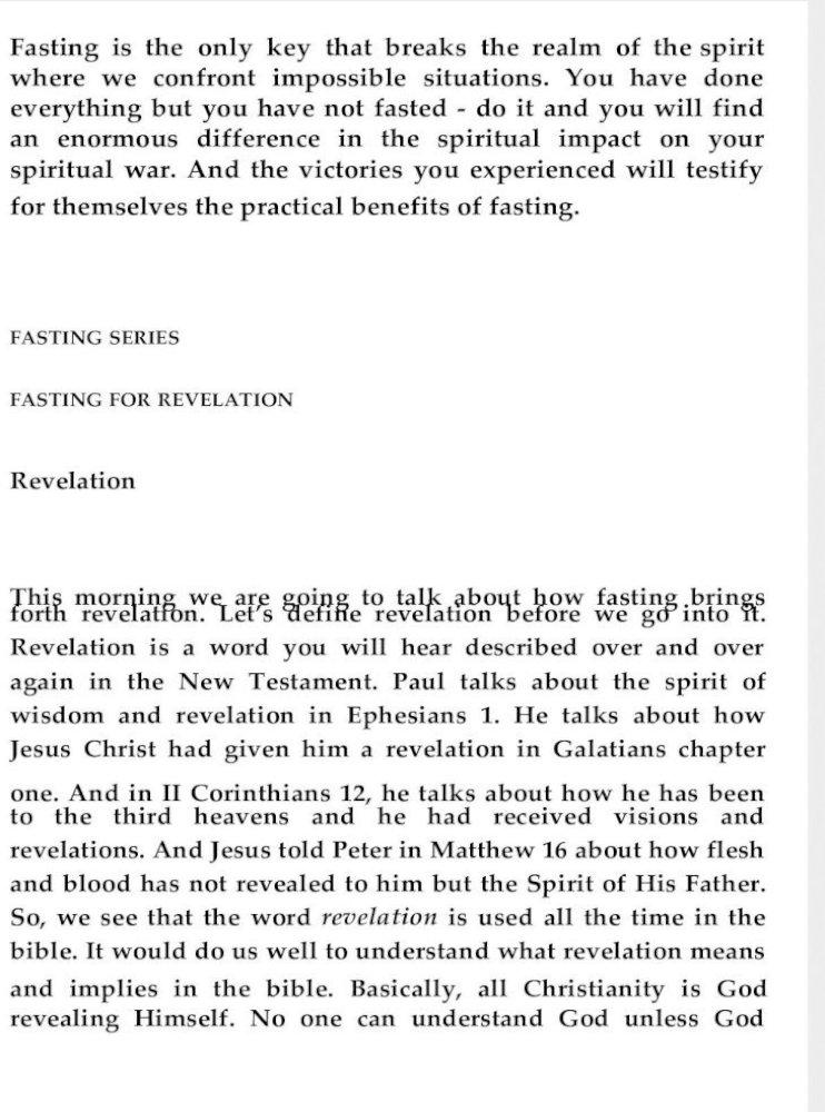 Fasting For Revelation Pastor Peter Tan