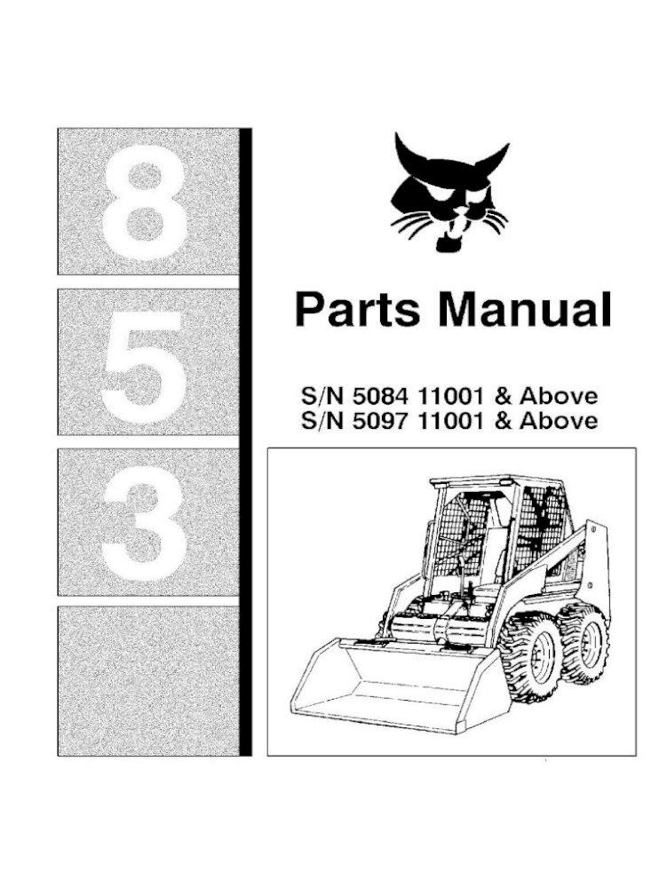 Bobcat 853 Isuzu Engine 853H Filter Service Kit