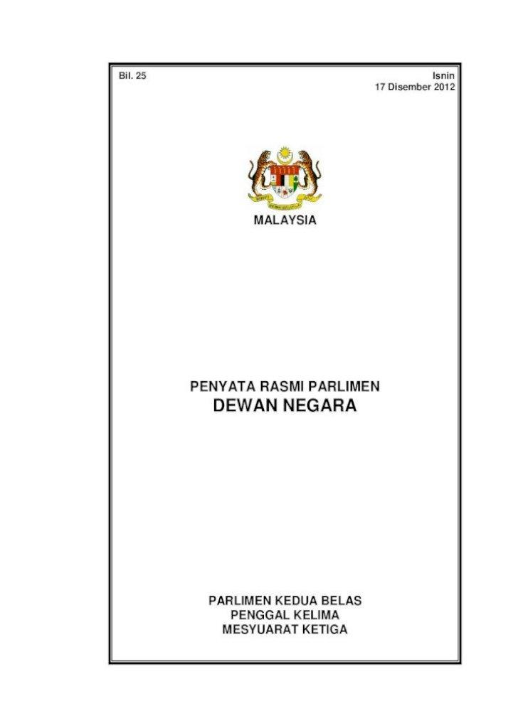 Penyata Rasmi Parlimen Dewan 2 Dn 17 12 2012 Dalam Konteks Ini Dalam Sistem Malaysia Dan Kita Mestilah