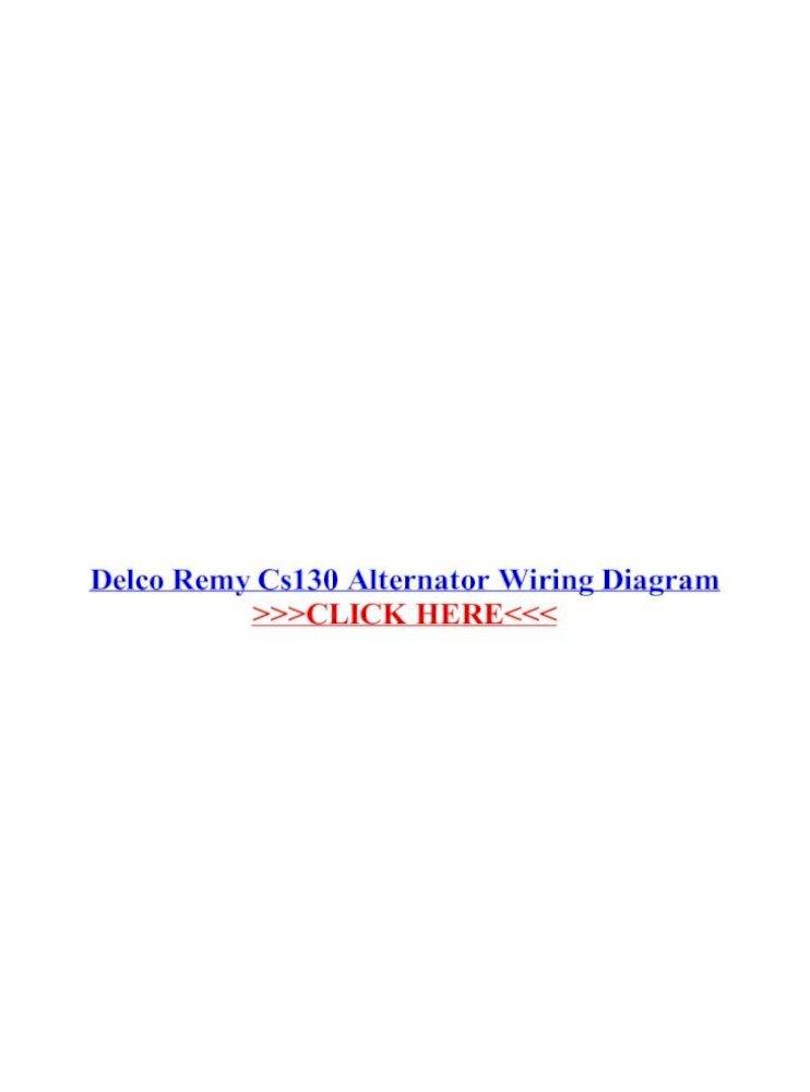 Delco Remy 50dn Alternator Wiring Diagram