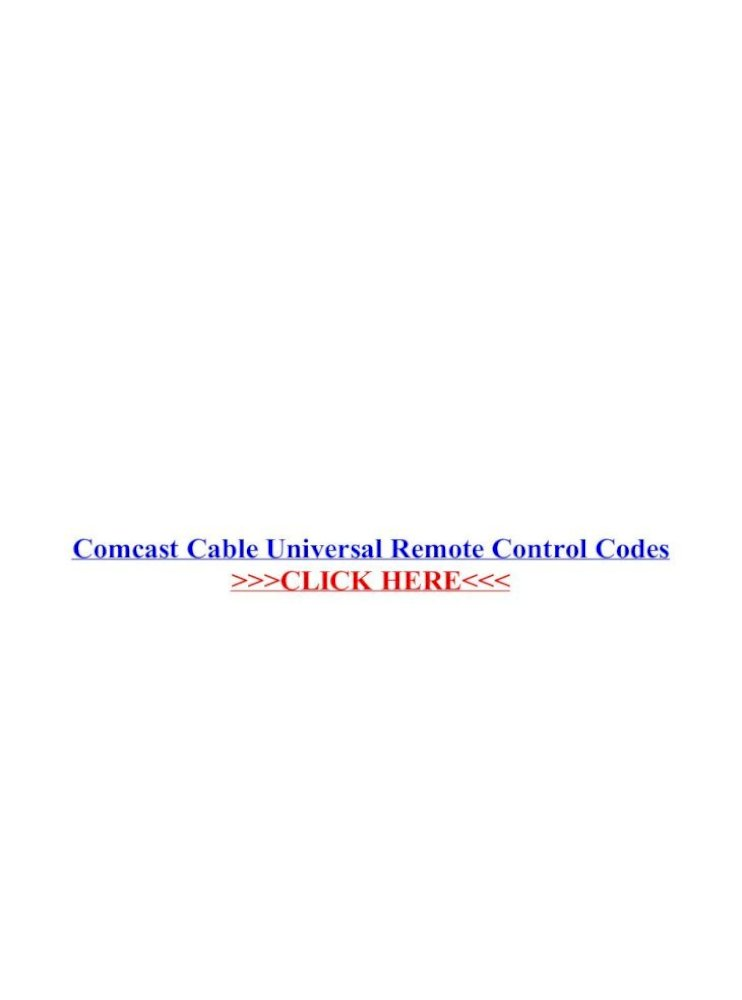 Comcast Cable Universal Remote Control Codes Cable Universal Remote Control Codes Xfinity Remotes Can Be Programmed