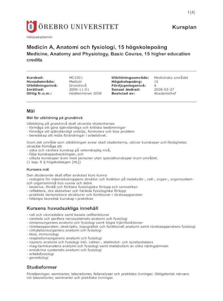 funktionell medicin utbildning