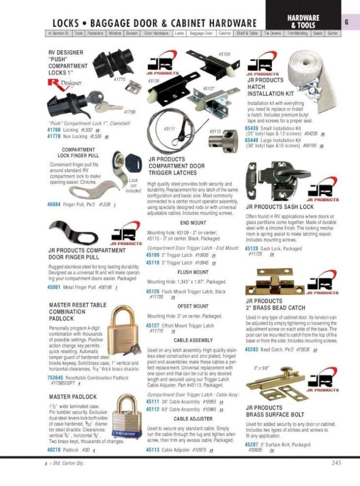 Econo Cam Lock Keyed Code 751 RV Designer L425 5//8 inch Compartment Hardware