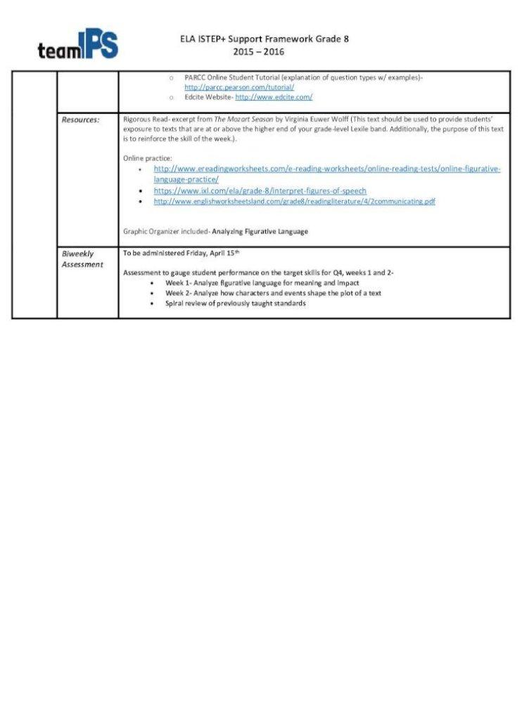 Ela Istep Support Framework Grade 8 2015 8 Ela Istep Support Framework Grade 8 2015 Students This is our analogy worksheets section. dokumen tips