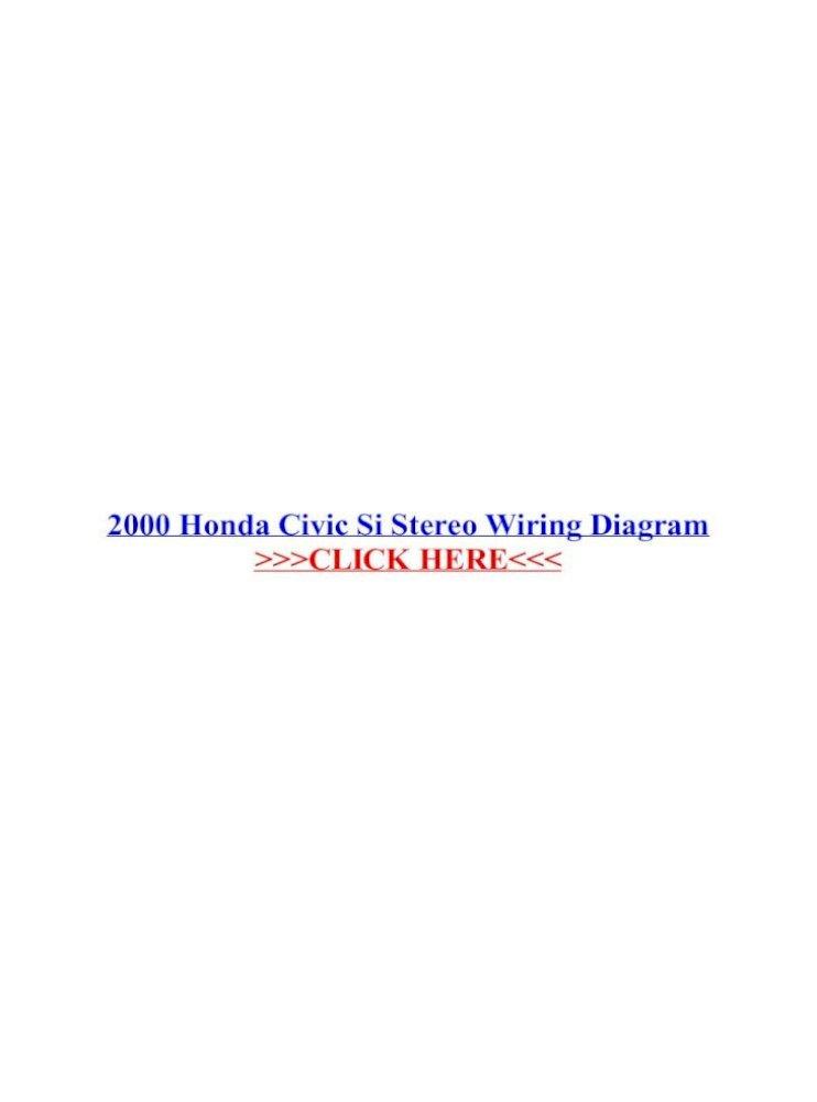 2000 Honda Civic Si Stereo Wiring Diagram Car Stereo Parts For 00 Honda Civic Radio Kits Harnesses 2000 Honda Civic Installation Parts Stereo Kits Find The Cheap 96 Honda