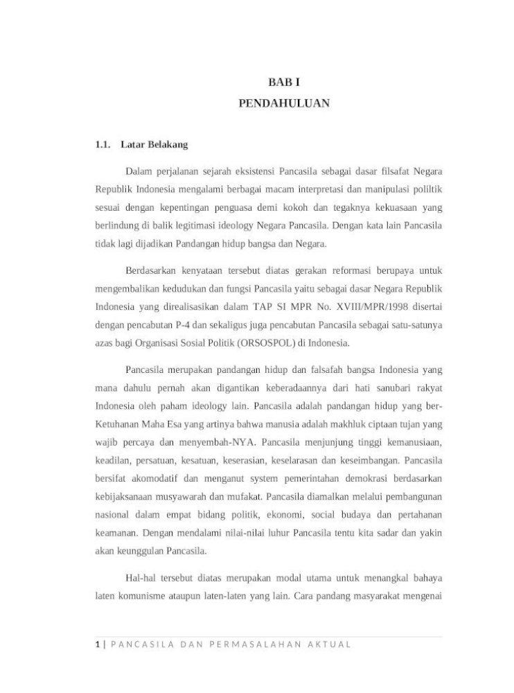 Makalah Pancasila Sebagai Pandangan Hidup Bangsa Indonesia Pdf