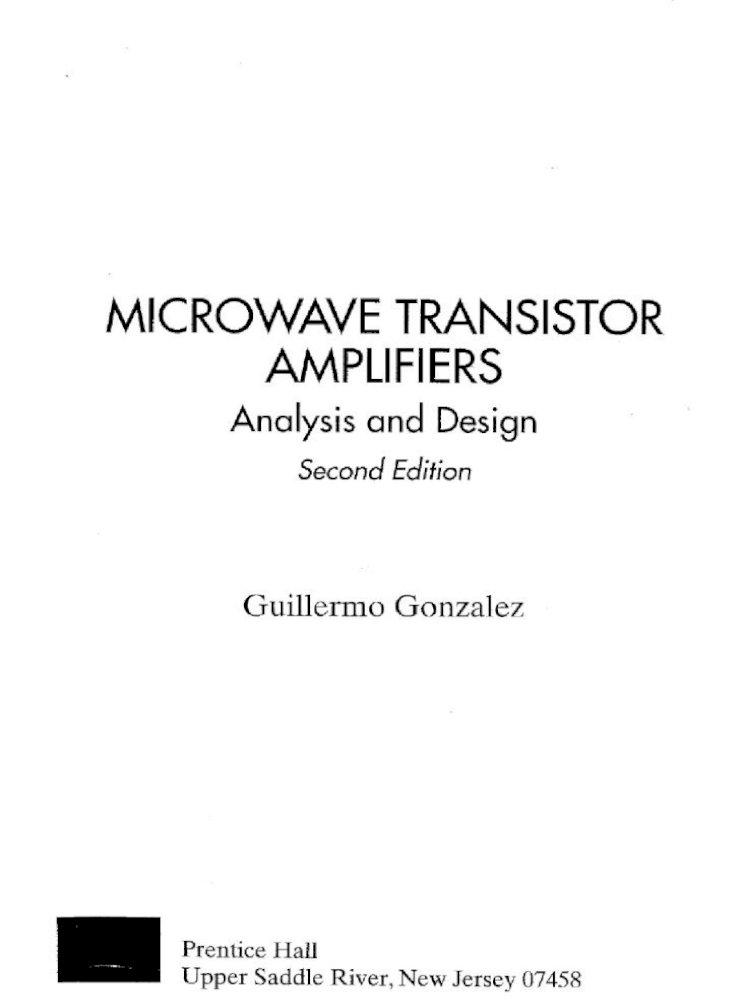 Microwave Transistor Amplifiers
